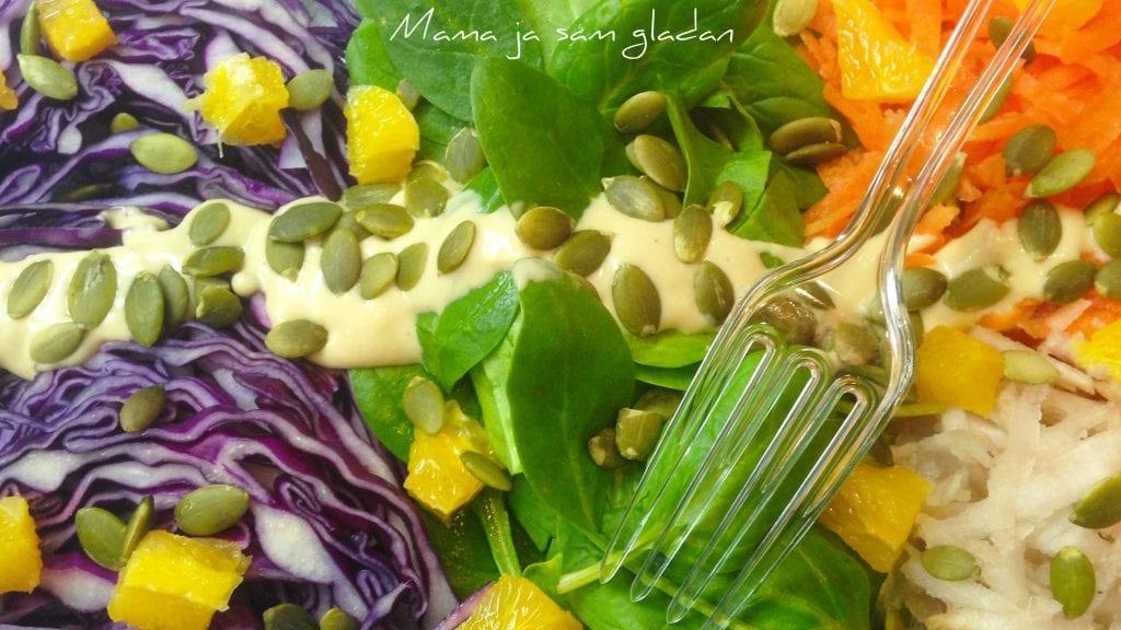 Salata od mladog špinata