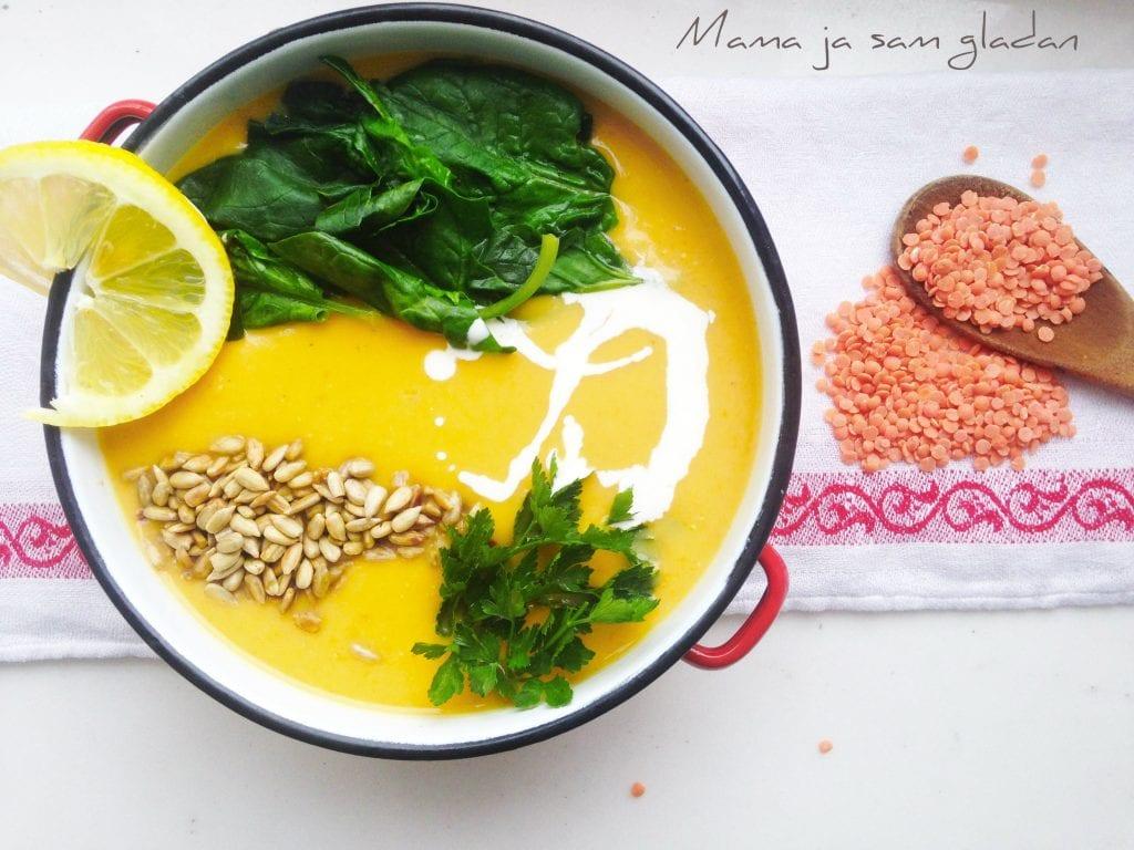 Gusta juha od crvene leće